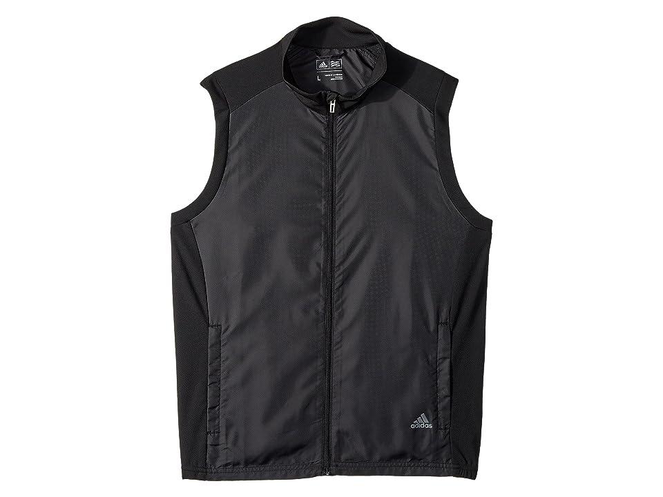 Image of adidas Golf Kids Provisional Vest (Big Kids) (Black) Boy's Vest
