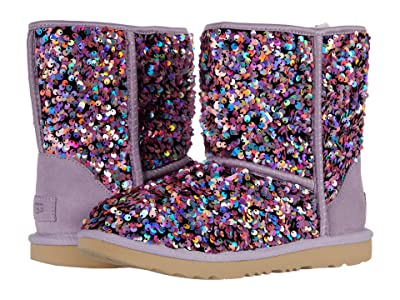 UGG Kids Classic II Stellar Sequin (Little Kid/Big Kid) (Lilac Frost) Girls Shoes