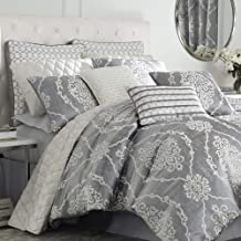 Croscill Isla King Comforter, Grey