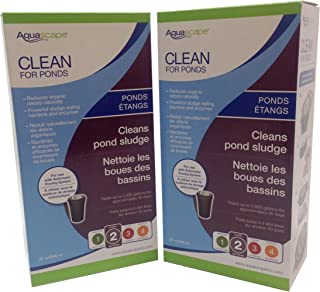 Aquascape 2-Pack of Clean for Ponds 32 Ounce Refill for Automatic Dosing System Decreases Sludge Naturally, Promotes Ideal Water Conditions and Reduces Maintenance
