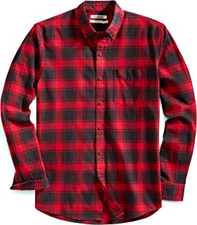 Amazon Brand - Goodthreads Men's Standard-Fit Long-Sleeve Plaid Oxford Shirt