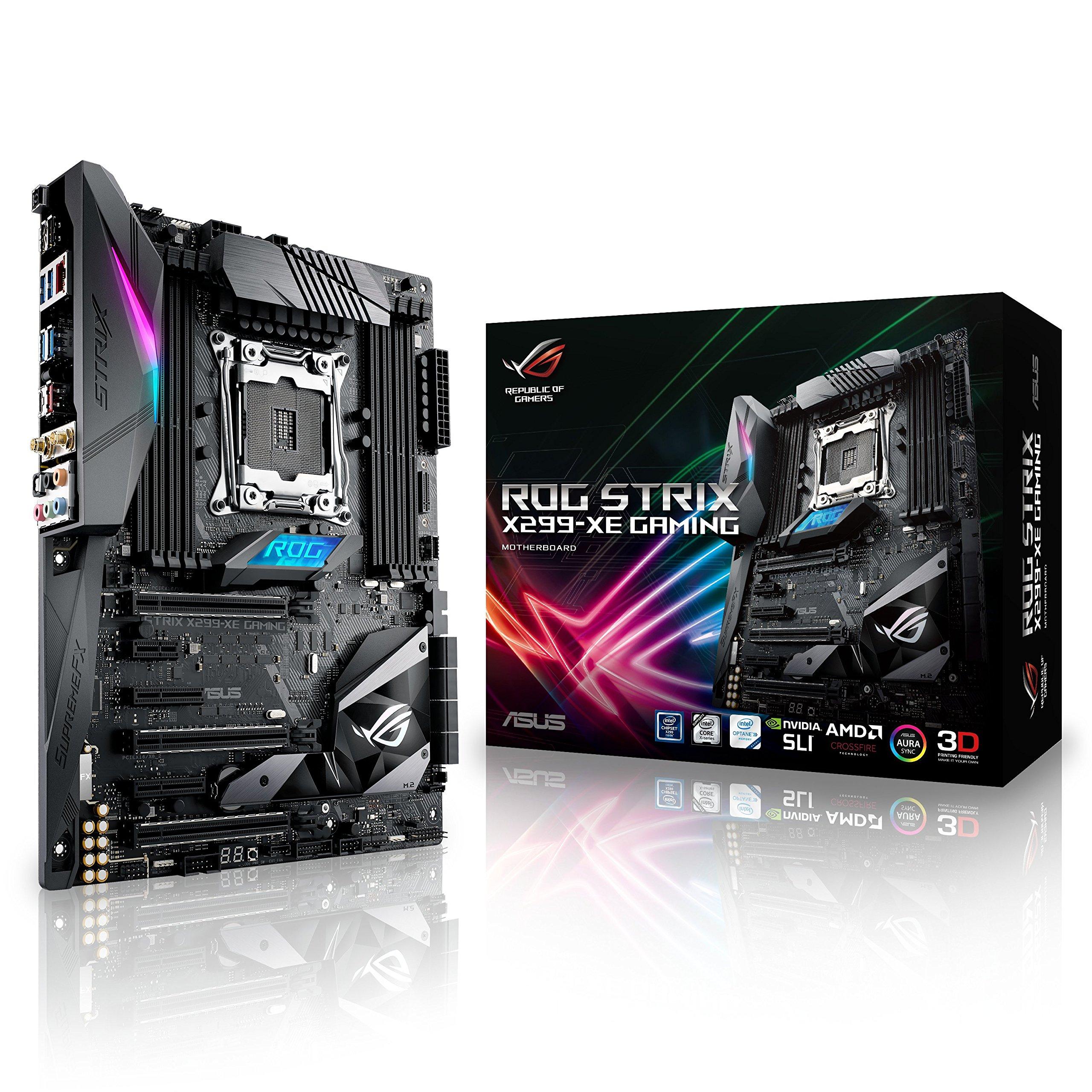 Asus Intel X299 ATX - Placa base gaming con Aura Sync RGB iluminación LED, 802.11ac Wi-Fi, DDR4 4133MHz, dual M.2, SATA 6Gbps y USB 3.1 type - A/C: Amazon.es: Informática