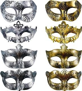 Hestya 8 Pieces Vintage Antique Masks Masquerade Carnival Mask