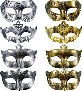 Hestya 8 Pieces Vintage Antique Masks Masquerade Carnival Mask