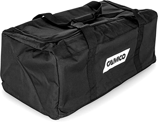 Camco Durable All Purpose RV Storage Bag with Internal Compartments - Securely Holds RV Stabilization, Electrical, & Sanitation Equipment   Excellent for RV Accessories, Campers, & Trailers - (53246)