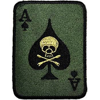 Spades Patch Embroidered Iron Sew On Black T Shirt Bag Jean Badge Poker Spade