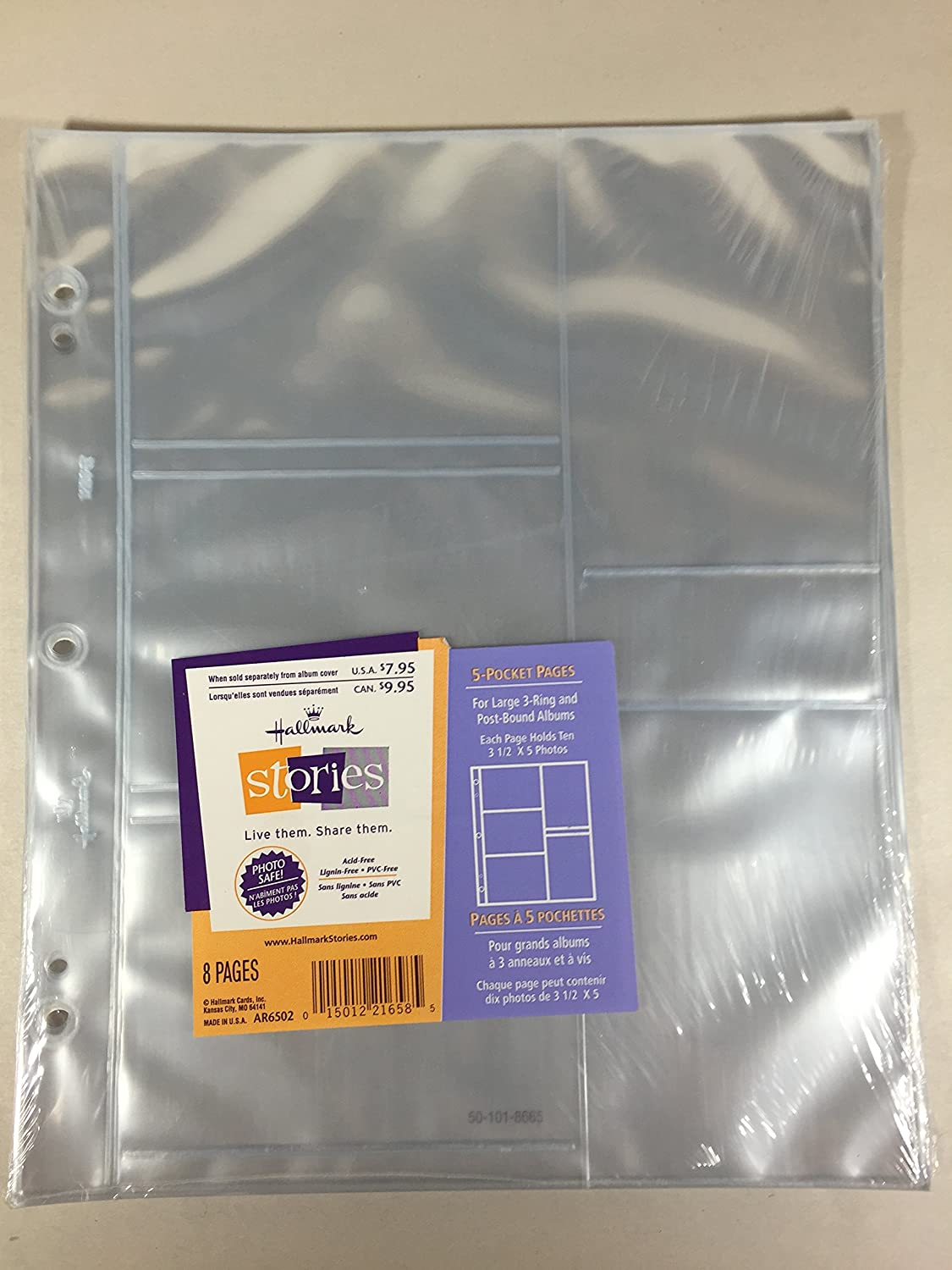 Fresno Mall Hallmark AR6502 5-pocket Pages for Post-bound and Large A Max 74% OFF 3-ring
