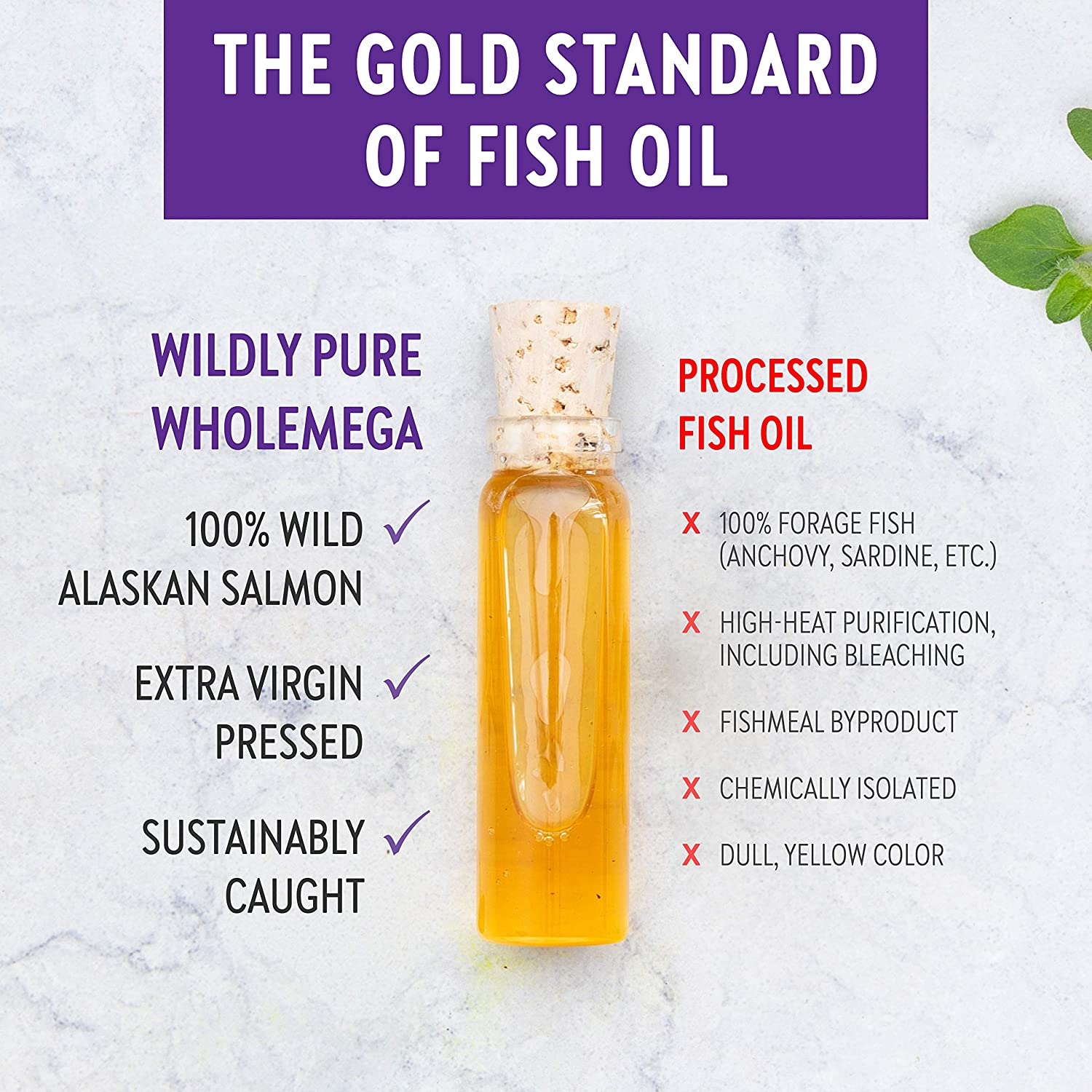 New Chapter Wholemega Fish Oil Supplement Wild Alaskan Salmon Oil with Omega-3 + Astaxanthin + Sustainably Caught Packaging May Vary, 120 Count