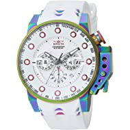 Invicta Men's I- I-Force Stainless Steel Quartz Watch with Silicone Strap, White, 24 (Model: 25277