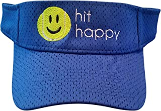 Tennis Visor Hit Happy, Adjustable Strap, Perfect for On The Court Or Off