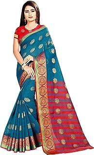 Arkita Stylish Designer Banarasi Silk Saree With Blouse Piece(Blue)