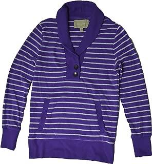 Women's 2-Button Shawl-Neck Long Sleeve Shirt