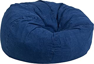 Flash Furniture Oversized Denim Kids Bean Bag Chair