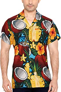 Coolred-Men Short-Sleeve Oversize Baggy Leisure Floral Tribal Top Tees Polo
