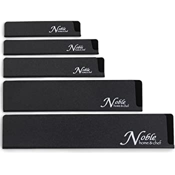 5-Piece Universal Knife Edge Guards are More Durable, No BPA, Gentle on Your Blades, and Long-Lasting. Noble Home & Chef Knife Covers Are Non-Toxic and Abrasion Resistant! (Knives Not Included)