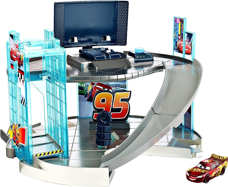 Mattel Disney Pixar Large discharge sale Time sale Cars 3 Rust-eze Playset Center - Racing