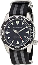 Momentum Men's M30 Stainless Steel Japanese-Automatic Diving Watch with Nylon Strap, Multi, 22 (Model: 1M-DV30B7S)