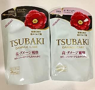 Shiseido TSUBAKI - DAMAGE CARE REFILLS (Shampoo and Conditioner) 345ml