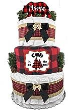 lumberjack diaper cake