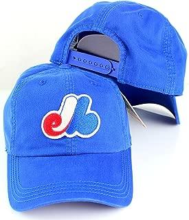 American Needle MLB New Timer Slouch Baseball Adjustable Snapback Hat (Montreal Expos)