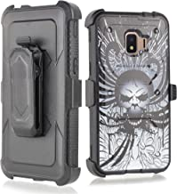 Compatible for Galaxy J2 core Case,Galaxy J2 Dash/J2 Pure/J260 case, w/Built-in [Screen Protector] Heavy Duty Full-Body Armor Case [Belt Clip Holster][Kickstand] (Skull)