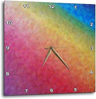 3dRose dpp_22634_1 Rainbow Ice Wall Clock, 10 by 10-Inch