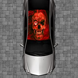 Sign Factory R01 Skull Roof Wrap - Decal Decals Wraps Vinyl Tint Avery Art Poster Image Carbon Hood Car Truck Fiber Hood