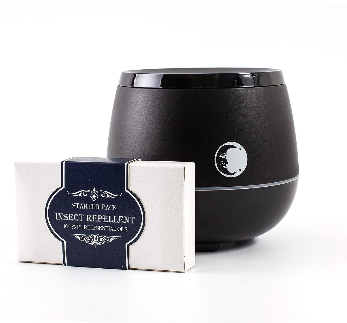 つば締め切りカートンMystic Moments | Black Aromatherapy Oil Ultrasonic Diffuser With Bluetooth Speaker & LED Lights + Insect Repellent Essential Oil Gift Starter Pack