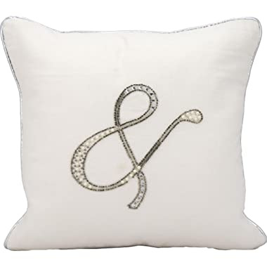 Kathy Ireland Worldwide Kathy Ireland E6317 White Decorative Pillow by Nourison, 14  X 14