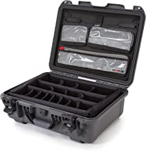 Nanuk 930 Waterproof Hard Case with Lid Organizer and Padded Divider - Graphite