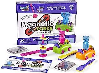 hand2mind MAGNETS! Super Science Kit for Kids (Ages 8+) - Build 9 STEM Experiments & Activity Set   Make Magnets Float, Mo...
