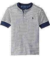 Polo Ralph Lauren Kids - Yarn-Dyed Slub Jersey Short Sleeve Henley Top (Big Kids)