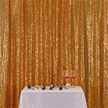 Eternal Beauty Gold Sequin Wedding Backdrop Photography Background Party Curtain, 8Ft X 8Ft