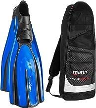 Mares Italian Design Avanti Tre Full Foot Fin with Cruise Snorkel Gear Bag, 38-BL