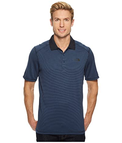 The North Face Short Sleeve Horizon Polo (Urban Navy Stripe) Men