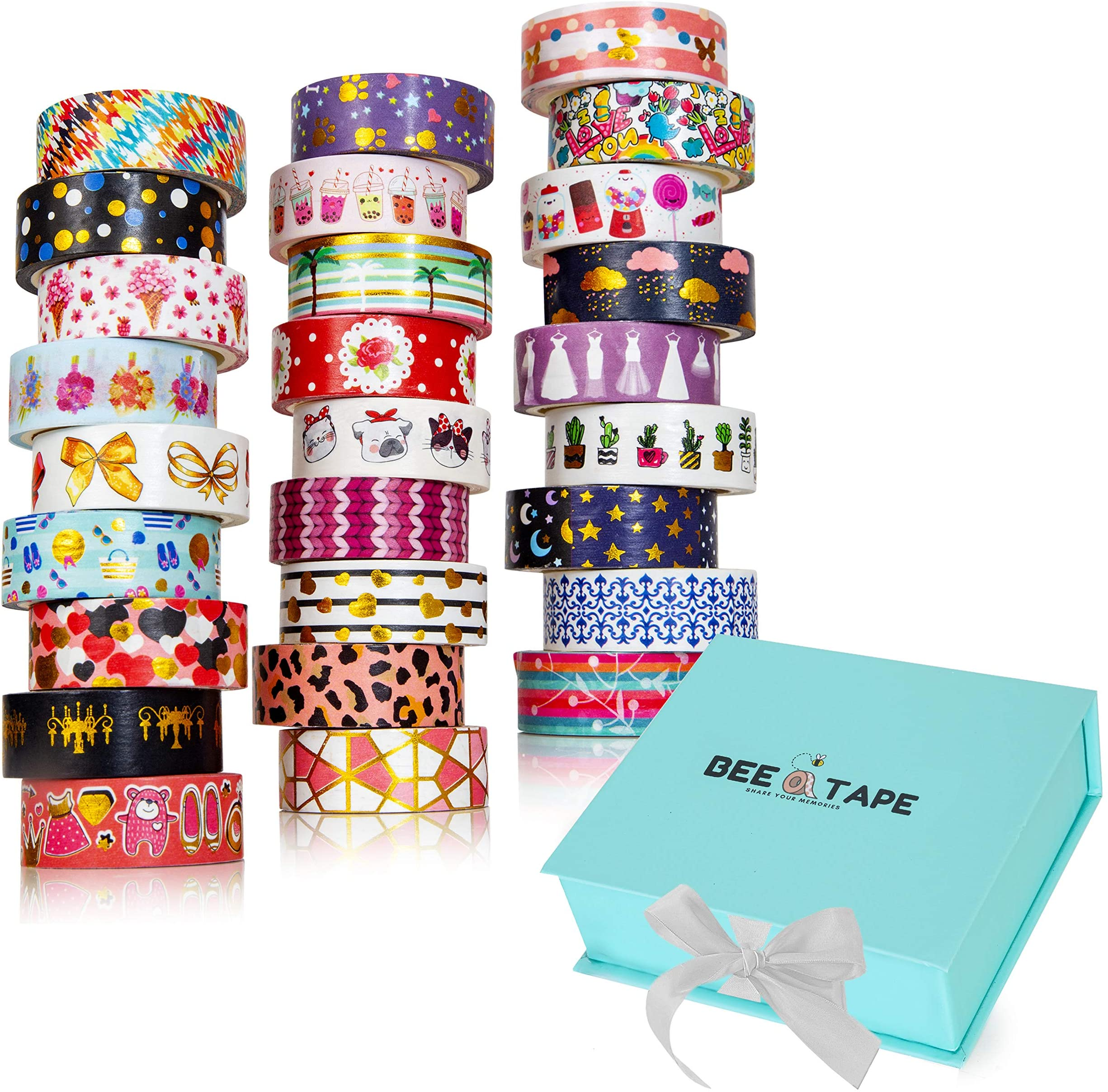Watercolor Be Wonderful Gold Letters Washi Tape  Sample  Item #WT137