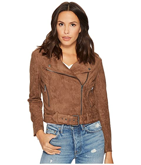 Bb Dakota Waller Faux Suede Moto Jacket At 6pm