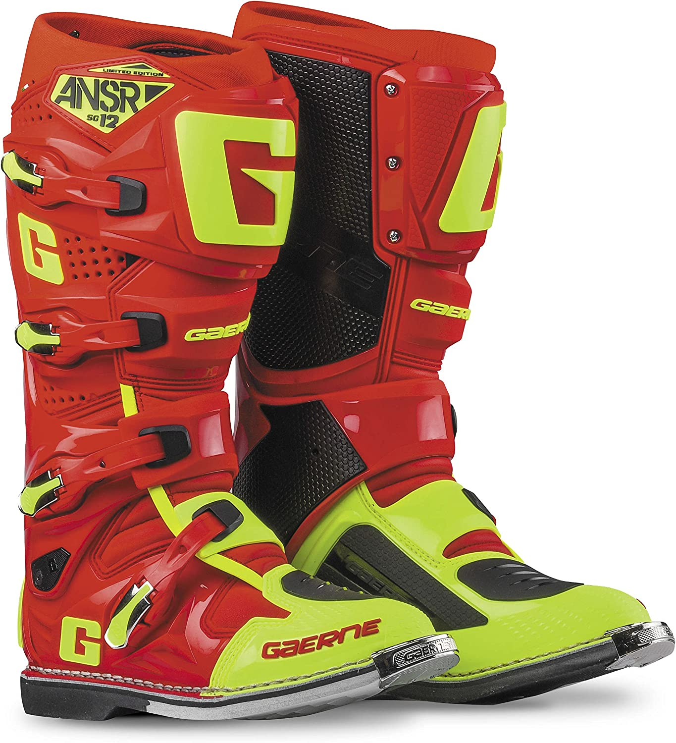 Answer 大決算セール Racing SG12 Men's Off-Road Boots Hi-Vis Motorcycle 2020 - Red