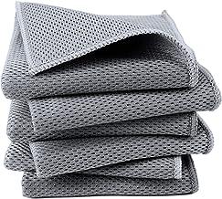 Polyte Premium mikrofiber kök disktvätt och skrubbnät duk, 30 x 30 cm, 6-pack (grå)