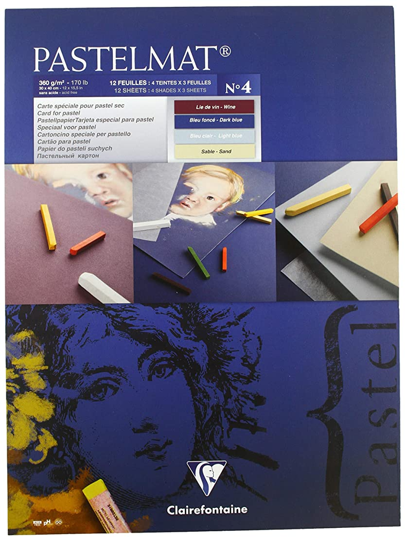 Clairefontaine 30 x 40 cm Pastelmat Glued Pad in Assorted Colours