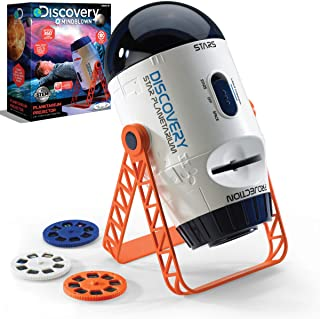 Discovery #MINDBLOWN 2-in-1 Reversible Planetarium Space Projector – 360-Degree Rotation – Moving Stars Mode and Stationar...
