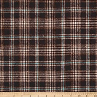 Newcastle Fabrics Yarn Dyed Flannel Bruno Brown Fabric By The Yard
