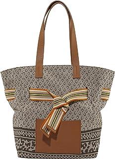 CODELLO Damen Tasche, Shopper   Logo-Design   100% Baumwolle Canvas   35 x 27 x 17 cm