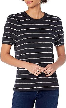 Daily Ritual Amazon Brand Women's Cotton Modal Stretch Slub Puff Sleeve T-Shirt