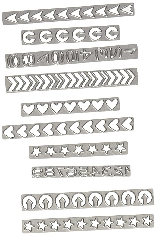 Sizzix Thinlits Die Set, Shape Strips by Tim Holtz (10 Pack)