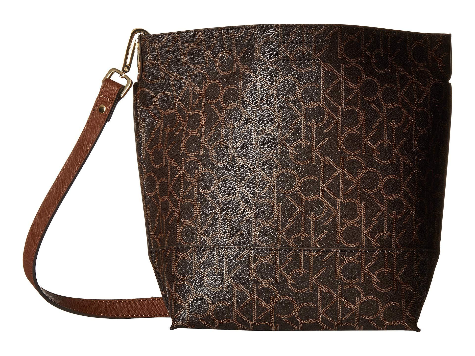 Calvin Monogram Brown Klein khaki Sonoma Bucket rrcF16R