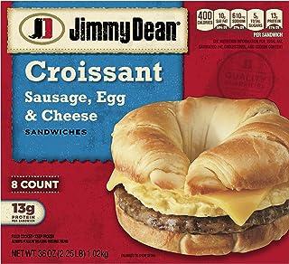 Jimmy Dean Sausage, Egg & Cheese Croissant Sandwiches, 8 Count (Frozen)