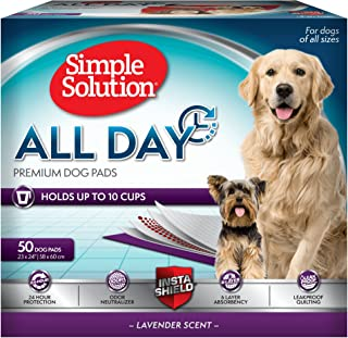 Simple Solution 6-Layer All Day Premium Dog Pads, 23 x 24, Lavender Scent