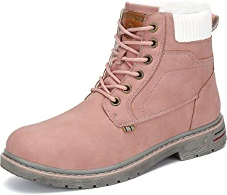 Mishansha Botas Hombre Mujer Invierno Trekking Boots Antideslizantes Botas de Nieve Impermeables Zapatos
