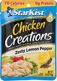 StarKist Chicken Creation Zesty Lemon Pepper – 2.6 oz Pouch (Pack of 12)